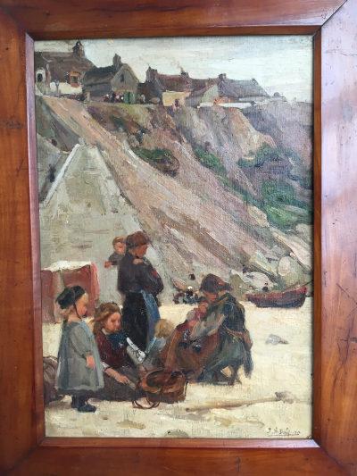 Tableau huile sur toile XIXème