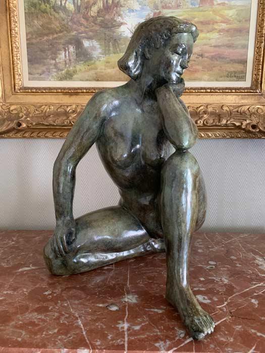 Sculpture en bronze 20ème siècle